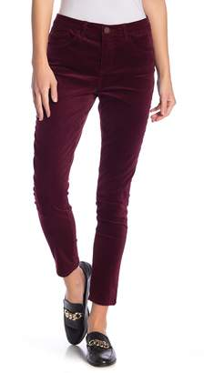 Democracy High Rise Slim-Skinny Velvet Pants