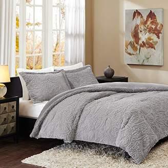 Madison Home USA Norfolk Super Soft Plush Faux Fur Paisley Blush Luxury Bedding Set Bedroom Comforters