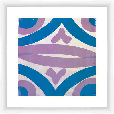 Wayfair Lavender and Teal Transitions Framed Painting Print