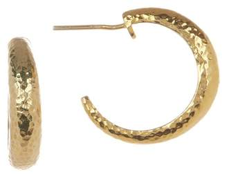 Gurhan Hammered 24K Gold Vermeil 20mm Open Hoop Earrings