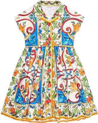 Dolce & Gabbana Button Down Majolica Dress