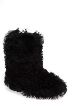 Saint Laurent Genuine Shearling Boot