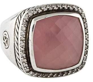 David Yurman Rose Quartz & Diamond Albion Ring