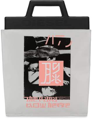 Diesel japanese print shopper tote