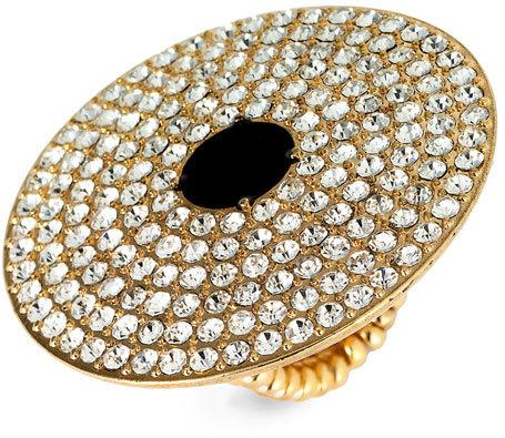 Tarnish Large Pavé Disc Ring