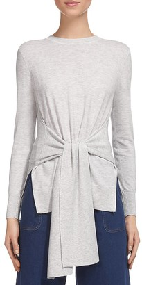 Whistles Tie Front Knit Top $180 thestylecure.com