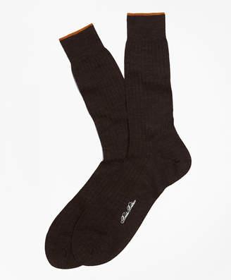 Brooks Brothers Merino Wool Golden Fleece Sized Crew Socks