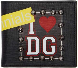 Dolce &amp; Gabbana Black I <3 Wallet