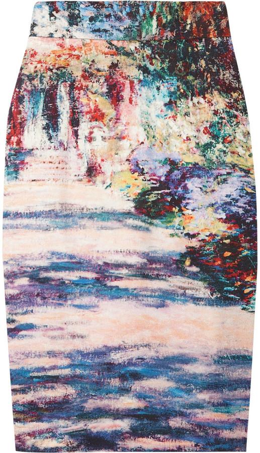 Paul & Joe Siverny printed stretch-cotton pencil skirt