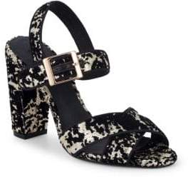 Ava & Aiden Giselle Sequined Velvet Sandals