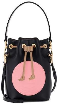 Fendi Mon Trésor Mini leather bucket bag
