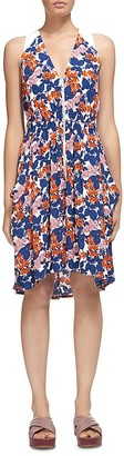 Whistles Damson Printed Front Zip Dress $250 thestylecure.com