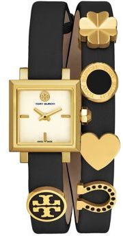 Tory BurchTory Burch Saucy Goldtone Stainless Steel & Double Leather-Strap Watch