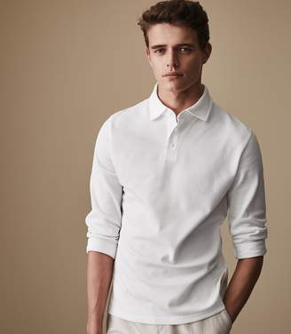 Reiss ORDER BY MIDNIGHT DEC 15TH FOR CHRISTMAS DELIVERY CLIFF Long Sleeve Henley White