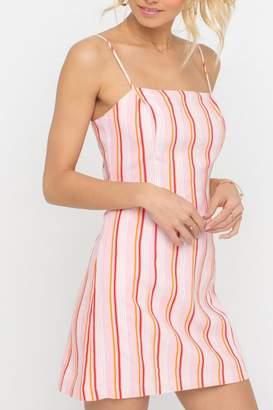 Lush Clothing Striped Square-Neckline Dress