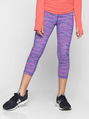 Athleta Girl Warm Purple Spacedye Capri