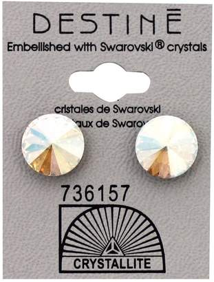 Crystallite Destine Silk Shimmer Rivoli Crystal Earrings