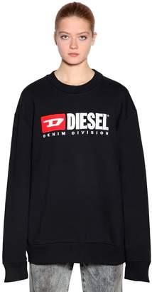Diesel Embroidered Cotton Jersey Sweatshirt