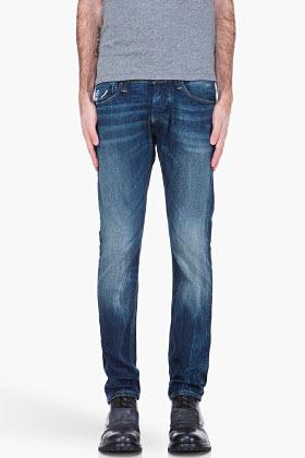 G Star G-STAR blue Defend Super Slim faded jeans