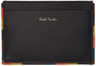 Paul Smith Black Multi Edge Card Holder