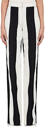 Derek Lam Women's Striped Cotton-Linen Wide-Leg Pants $1,150 thestylecure.com
