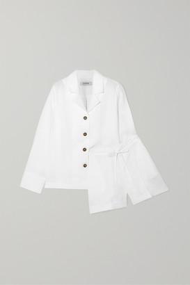 Sleeper - Linen Pajama Set - White