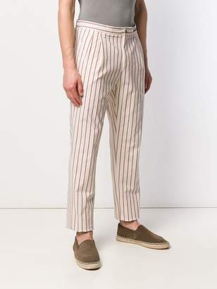 Pt01 striped chino trousers