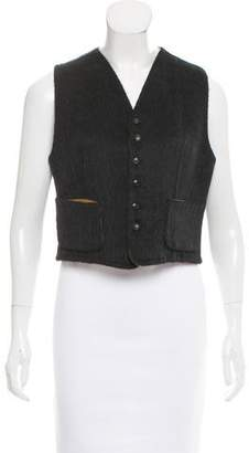 Hermes Reversible Leather-Paneled Vest