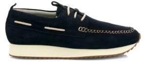 Grenson Men's Sneaker 15 Suede Wedge Topsiders - Deep Blue - Size 6 UK (7 US)