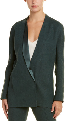 Akris Linen-Blend & Silk-Lined Jacket