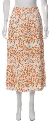 Aquascutum London Printed Midi Skirt