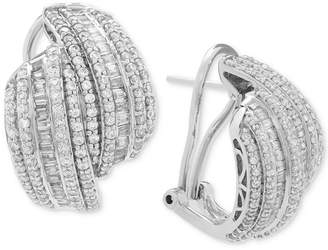 Wrapped in Love Diamond Drop Earrings (2 ct. t.w.) in Sterling Silver