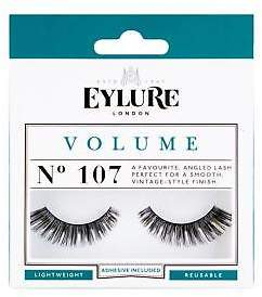 boohoo NEW Womens Eylure Volume False Lashes - 107 in Black size One Size