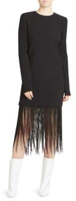 Givenchy Long-Sleeve Fringe Dress