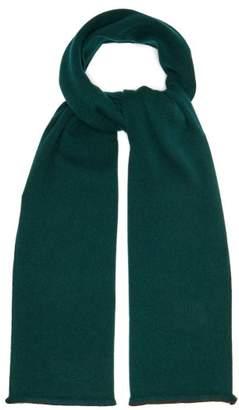 Gucci Gg Supreme Logo Wool Blend Scarf - Mens - Green Multi