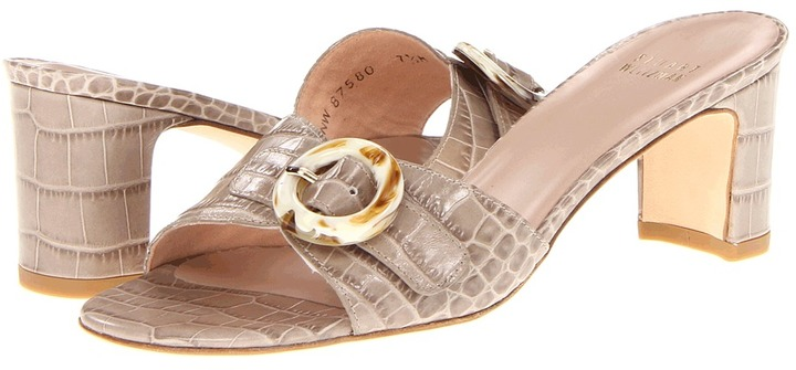 Stuart Weitzman Bucat (Taupe Alligator Calf) - Footwear