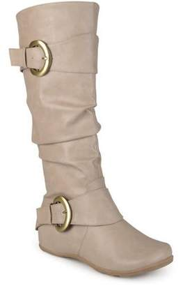 Brinley Co. Womens Buckle Knee-High Slouch Boot