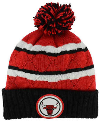 Mitchell & Ness Chicago Bulls Quilted Hi Five Knit Hat