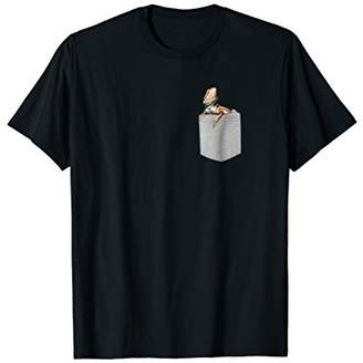 Dragon Optical Fake Pocket Bearded T-Shirt Funny Lizard Reptile Tee