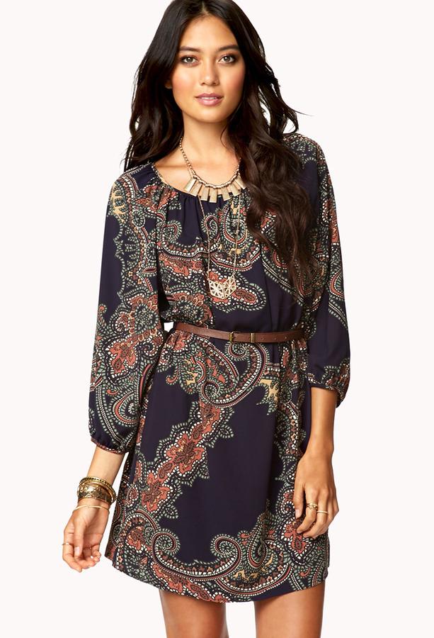 Forever 21 La Vie Bohemian Dress w/ Belt