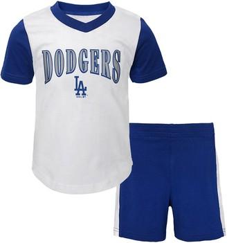 Toddler Boy Los Angeles Dodgers Little Hitter Tee & Shorts Set