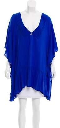 Vix Paula Hermanny Draped Short Sleeve Tunic