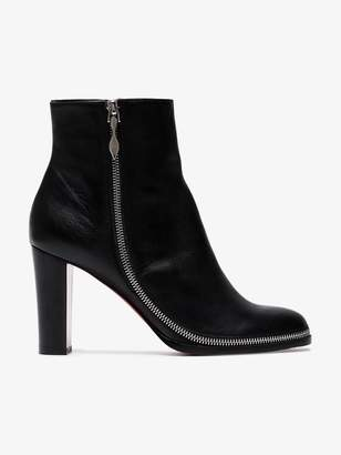 Christian Louboutin Black Adox 85 leather ankle boots