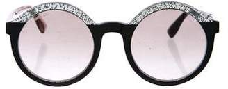 Jimmy Choo Glam Glitter Sunglasses
