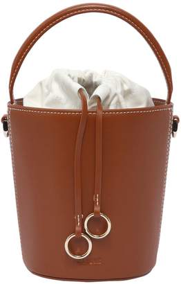 Mini Basket Bucket Leather Bag