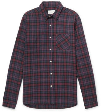 Oliver Spencer New York Special Checked Cotton-Blend Flannel Shirt