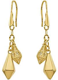 QVC 14K Kite-Shaped Dangle Shepherd's Hook Earrings