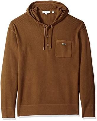 Lacoste Men's Long Sleeve Francy Stitch Waffle Hoodie Sweater