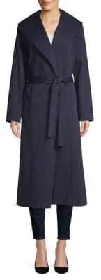 Eileen Fisher Wide Collar Long Coat