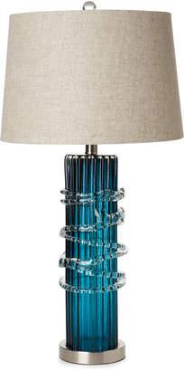 Element Deep Blue Glass Table Lamp